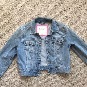 Abercrombie and Fitch Cropped Jean Jacket